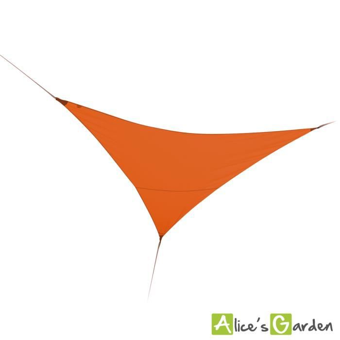 voile d 39 ombrage triangulaire 3 6m anti uv et imperm able orange achat vente parasol. Black Bedroom Furniture Sets. Home Design Ideas