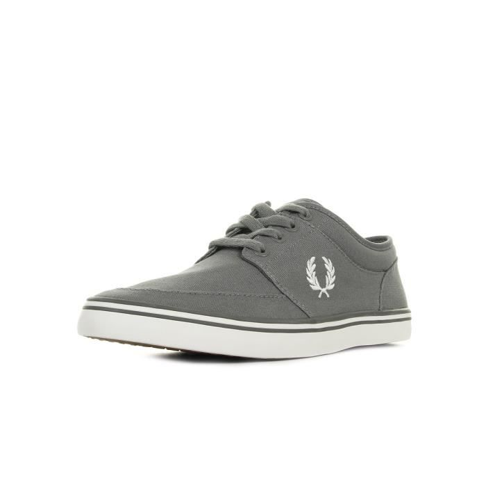 Baskets Fred Perry Stratford Canvas Falcon Grey Snow White