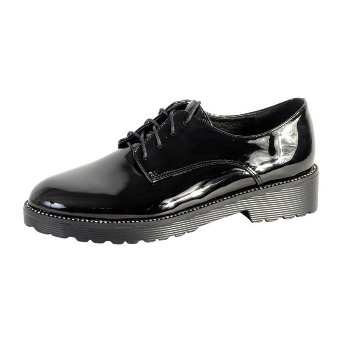 Derby Chaussure Tdf3122 Divine Factory Noir The vxwYxdT