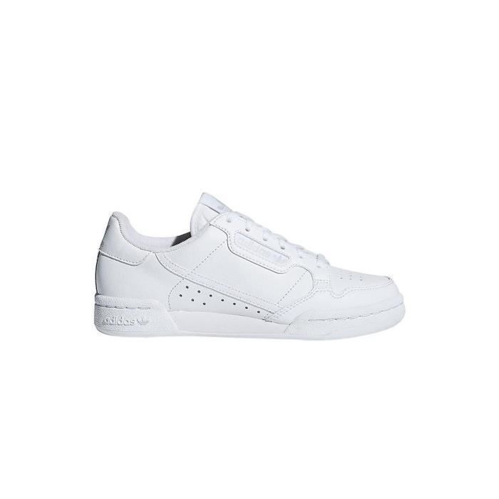 Basket Adidas Originals Continental 80 Junior - F97499 Blanc ...