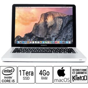 Vente PC Portable Ordinateur portable APPLE MACBOOK PRO 13 core i5 4 go ram 1 To disque dur  SSD pas cher
