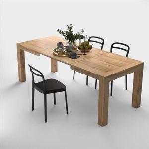TABLE À MANGER SEULE Table extensible Cuisine, Iacopo, Bois Rustique