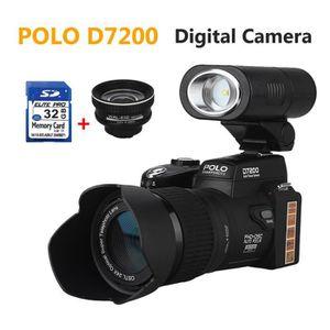 APPAREIL PHOTO RÉFLEX 2pcs POLO D7200 33MP appareil photo numérique 24XZ