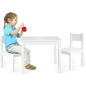TABLE BÉBÉ Table et 2 chaises enfant couleur blanche Chambre