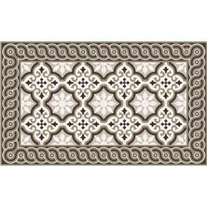 Tapis vinyle 60x100cm imitation carreaux de ciment for Tapis imitation carreaux ciment