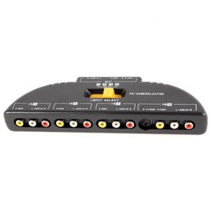 CÂBLE AUDIO VIDÉO 4-Voie Audio Video AV RCA Selecteur Commutateur Je