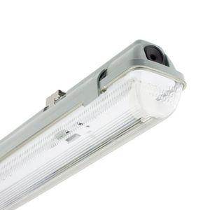 TUBE LUMINEUX Réglette Étanche pour un tube LED 1200mm PC/PC Con
