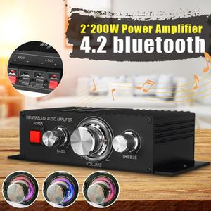 AMPLIFICATEUR HIFI TEMPSA 12V 2x200W Mini Amplificateur 4.2 Bluetooth