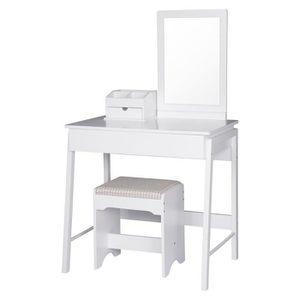 COIFFEUSE WOLTU Coiffeuse table de maquillage en MDF, Coiffe
