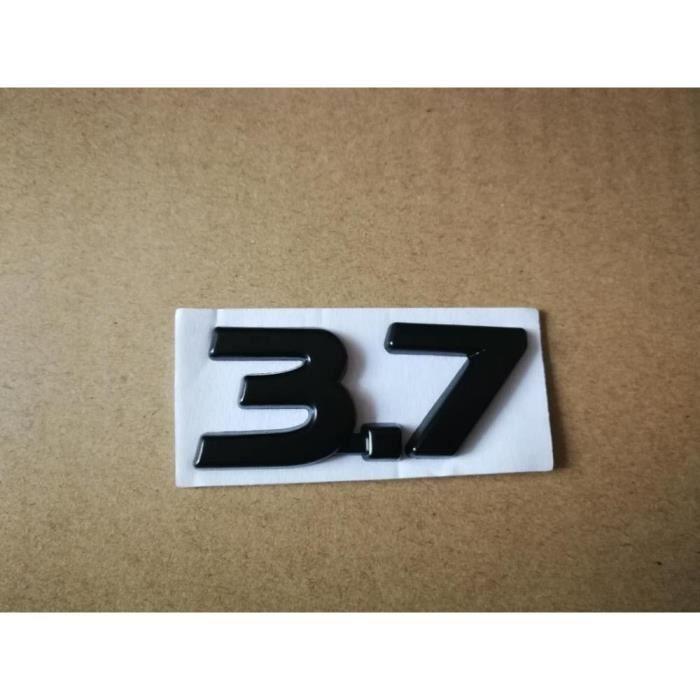 Badge de voiture 3D en métal, autocollant chromé pour Infiniti Q50 Q50L G37 G25 QX70 FX35 FX37, 1 pièce, 3.7 S [056254C]