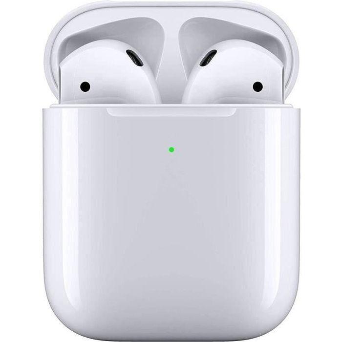 APPLE Écouteurs sans fil AirPods 2 - Boîtier de charge filaire
