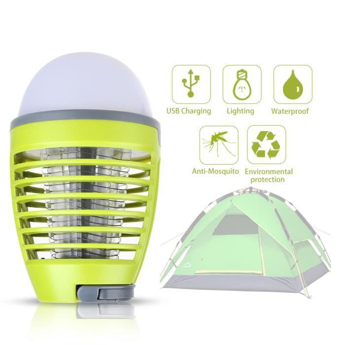 Anti-Moustiques Lanterne Exterieur Lampe 2 en 1 sans Fils Pièges à Moustiques 3W Éclairage 4WLampe Lanterne Camping Imperméable IP44