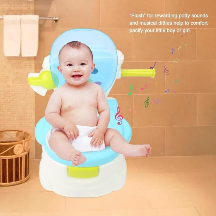 Enfant Pot Bébé Toilette Voyage Portable Design Amusant Siège de Pot Toilette Poignée Antidérapant-MEY