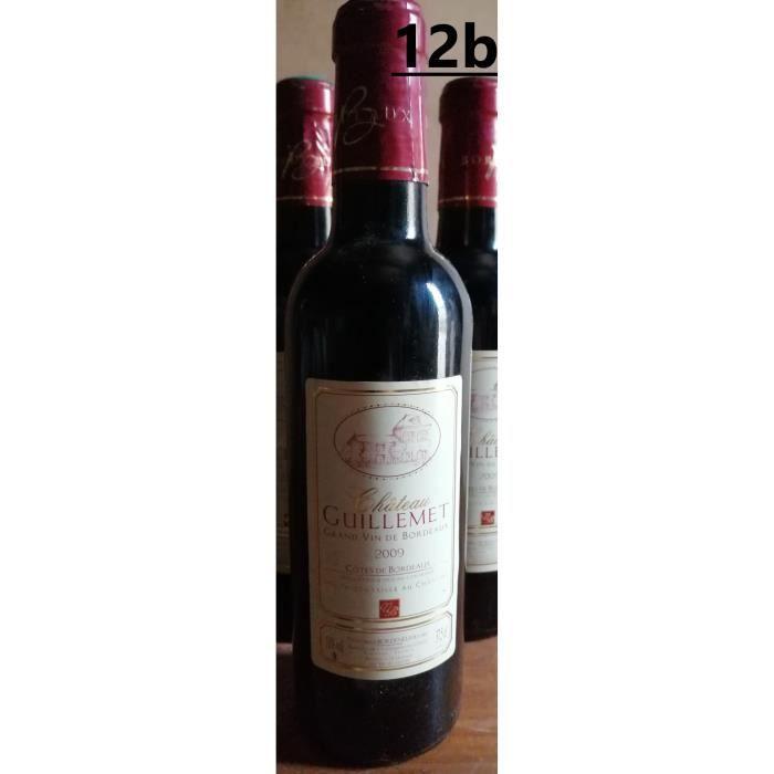 12 x 37,5 cl - Côtes de Bordeaux Rouge 2009 - Château Guillemet direct producteur