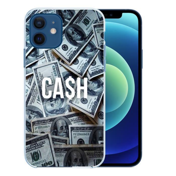 Coque pour iPhone 12 mini - Cash Dollars. Accessoire telephone
