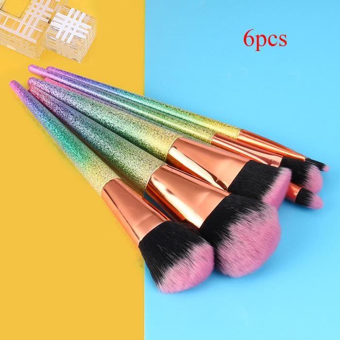 6 PCS Make Up Foundation Sourcils Eyeliner Blush Cosmetic Concealer Brosses YJL70703767_5462