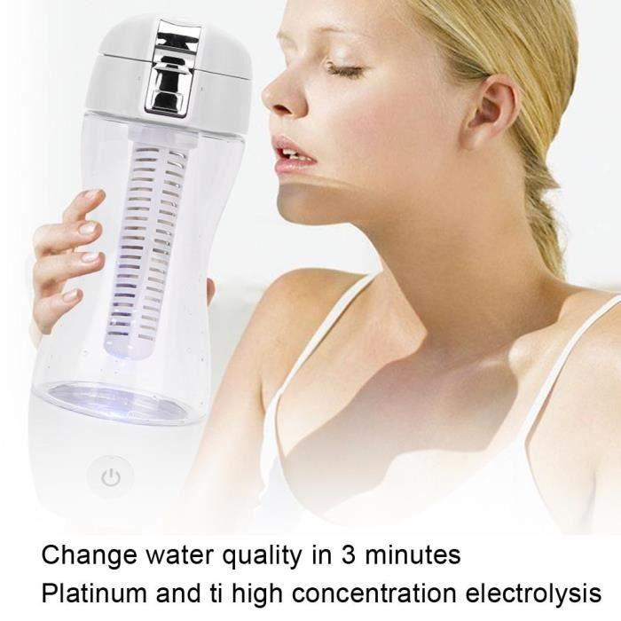 Bol mug 360 ml Tasse D'eau Hydrogène Portable Riche Bouteille D'eau Électrolyse pour Voyage À Domicile (Bouteille D'eau)-YIN