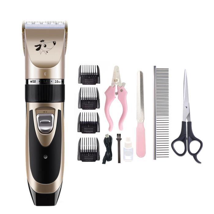 USB électrique Pet Clipper outil de toilettage sûr de cheveux pour animaux de compagnie tondeuse à cheveux pour chien chat
