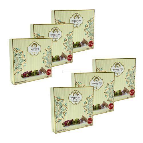 Lot 6X Assortiment de loukoum (raha) auX pistaches - Zaitoune - boîte 250g
