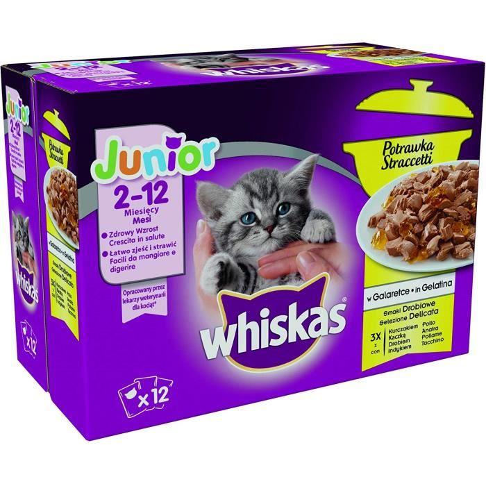 Nourriture pour chats Whiskas stea Gravier fleischige Snacks avec dinde, lot de 4 (4 x 12 x 85 g) 39099