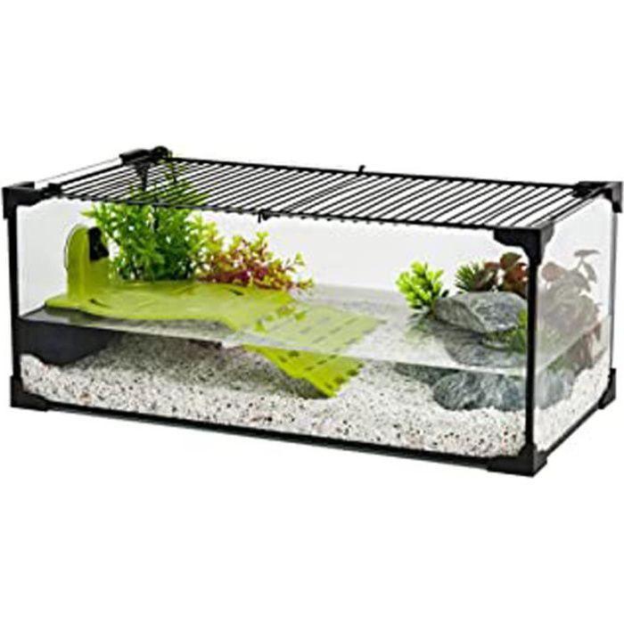 Aquarium Tortue-Aquaterrarium Pour Tortue D'Eau 60 Cm