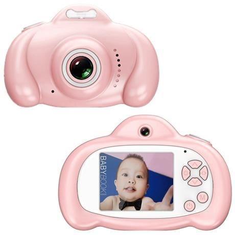 Appareil photo enfant,Bébé jouets 0 12 mois dessin animé appareil photo numérique enfants créatif jouet éducatif - Type Pink