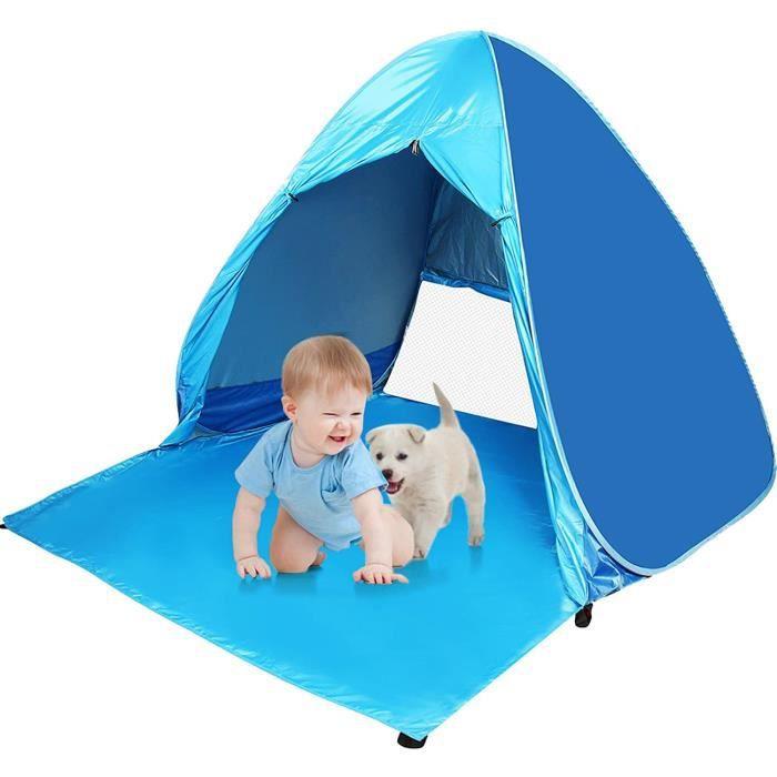 Pop Up Tente automatique Instant Portable Tente de plage avec fermeture agrave glissiegravere Porte Anti UV 50 + Tente de camping