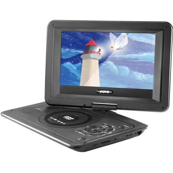 13.9 - Lecteur DVD Portable Rotatif HD Ecran LCD 16: 9 Résolution 800*480 Eu Plug