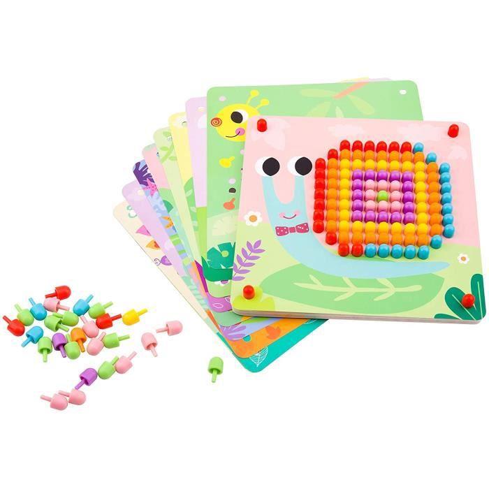 VEHICULE A CONSTRUIRE ENGIN TERRESTRE A CONSTRUIRETooky Toy - Puzzle mosaique Animaux - Puzzle pour Enfant - Jeux de Construct129