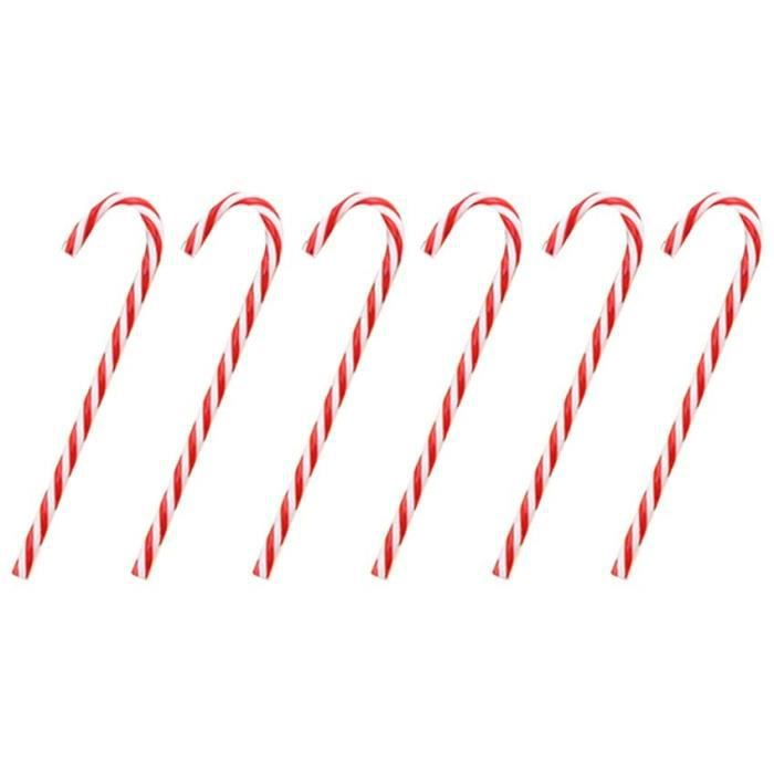 Exquisit Lot de 12 décorations de Noël en forme de canne à sucre d'orge[981]