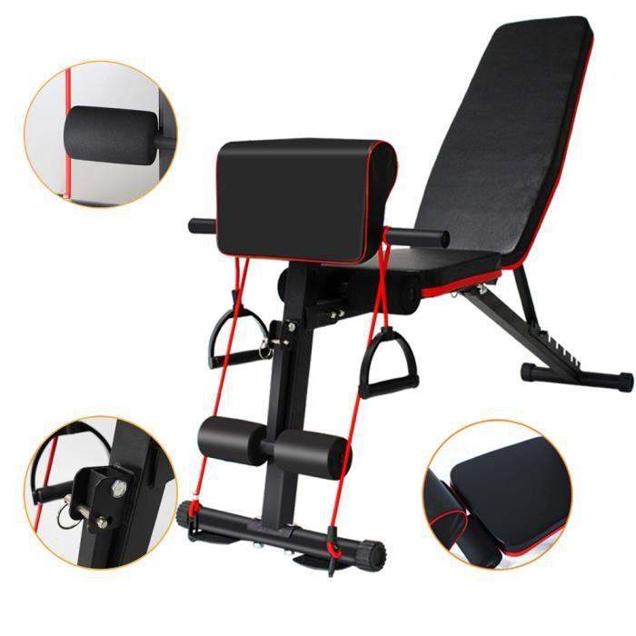 CIC ExerCIC e Banc d'haltères Chaise de fitness auxiliaire réglable multifonctionnelle
