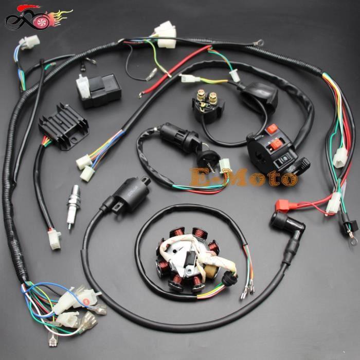 Bobines d'allumage,ZONGSHEN LIFAN LIFAN, régulateur de bobine électrique complet ATV QUAD 150cc, 200cc, 250cc, 300cc, solénoïde CDI