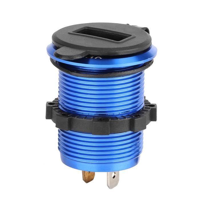 chargeur allume-cigare 12-24V adaptateur secteur allume-cigare double chargeur USB avec voltmètre LED pour moto