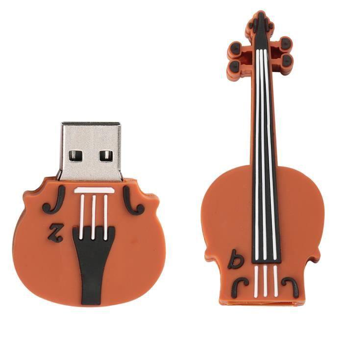 Clés USB 2.0 Flash Drive Violin Forme Disque Externe Mémoire Stockage Accessoire Ordinateur Portable 256 Go