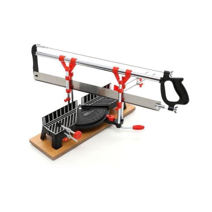 DCRAFT - Scie à onglet de précision pour bois - Longueur lame 550 mm - Largeur coupe 120 mm - Scie à main atelier bricolage