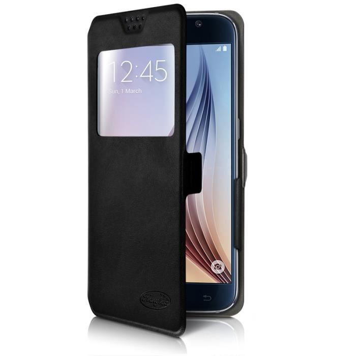 Etui S-View Universel S Couleur Noir pour smartphone Orange Roya