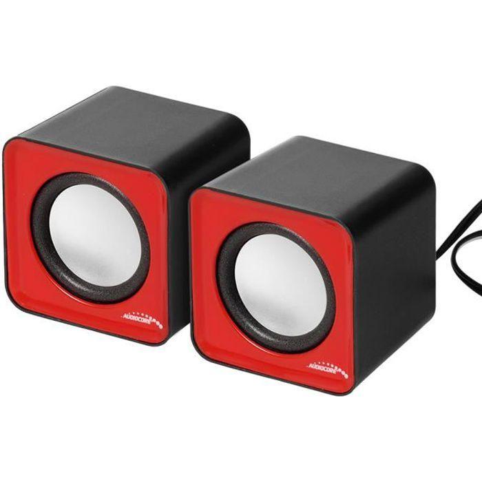 Haut parleurs d'ordinateur Audiocore Ac870r 6W Usb rouge