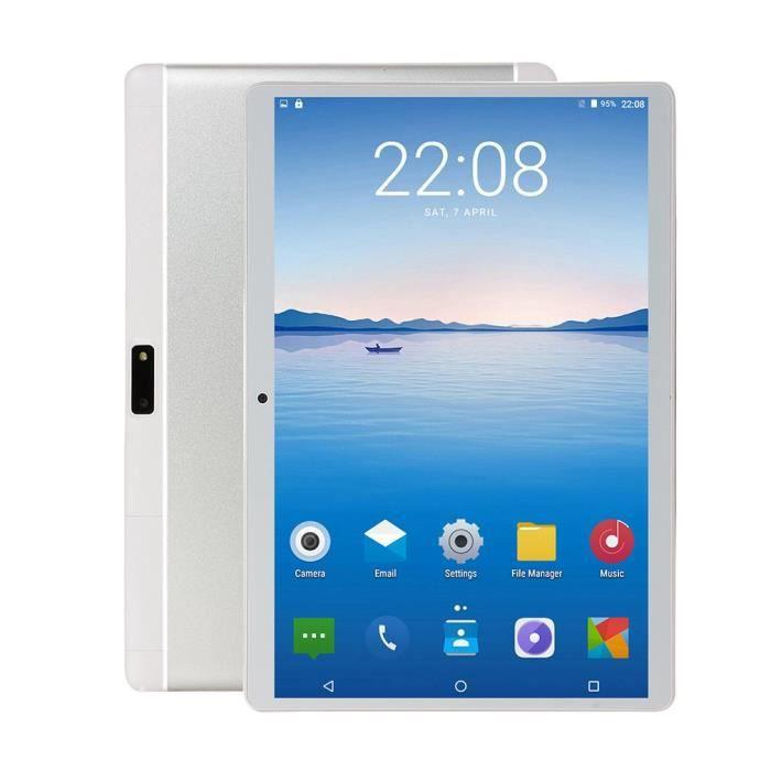 Tablette 10 pouces sans fil Android Tablet 1G + 16G argent