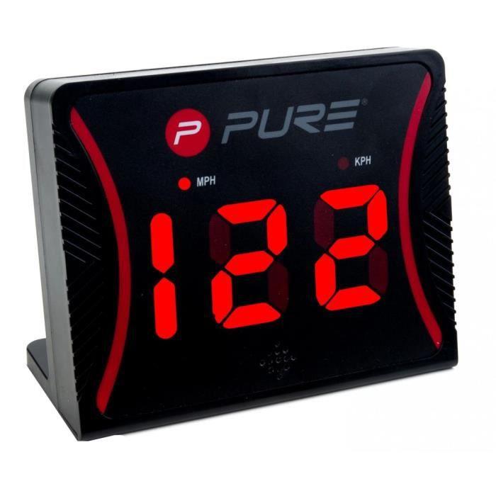 Pure2Improve Radar de vitesse Noir Plastique