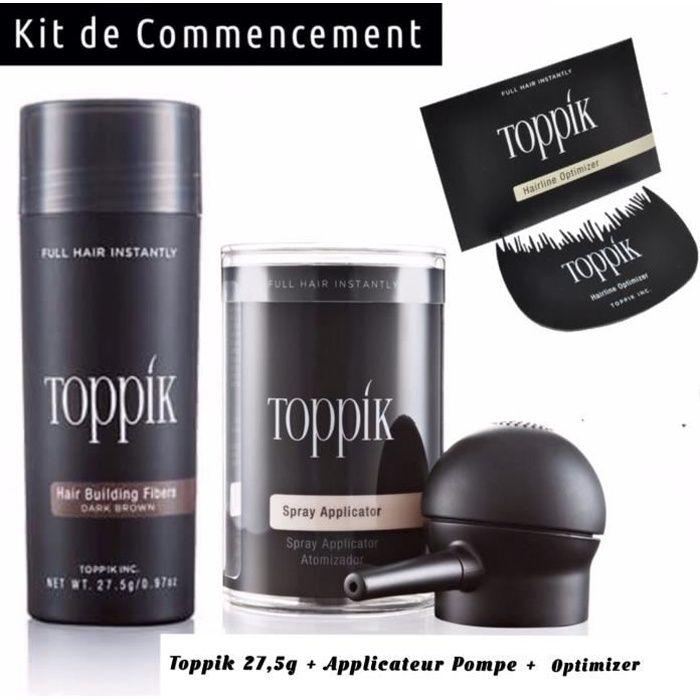 Toppik kit de commencement Poudre de Cheveux (Châtain Foncé)