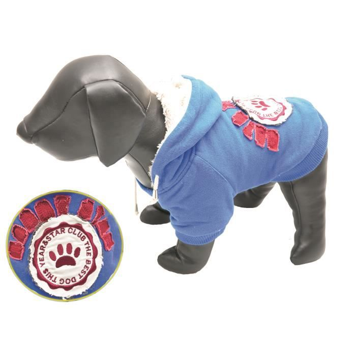 Sweater peluche Doggy Star bleu marine 20cm
