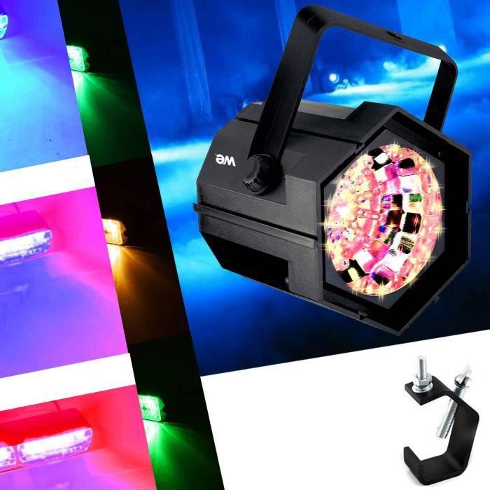 Jeux de Lumière Stroboscope à 47 LED multicolore 4 couleurs Vitesse du flash réglable + Fixation