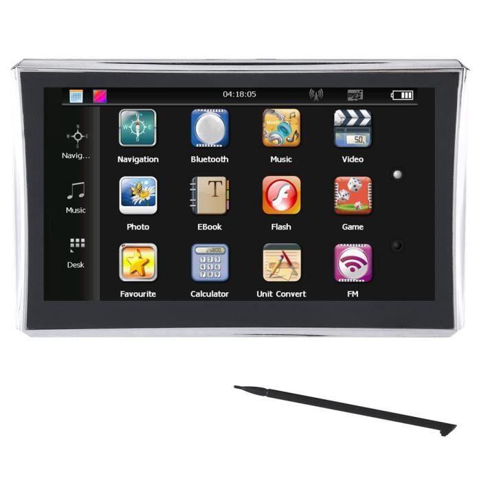 Navigateur Gps De Voiture De 7 Pouces A Ecran Tactile 256m 8gb Fm Bluetooth Europe Carte Gratuite Achat Vente Gps Auto Navigateur Gps De Voiture D Cdiscount