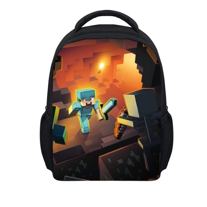 cartable minecraft pack cole gar ons de sport les enfants de sac dos a9 achat vente sac. Black Bedroom Furniture Sets. Home Design Ideas