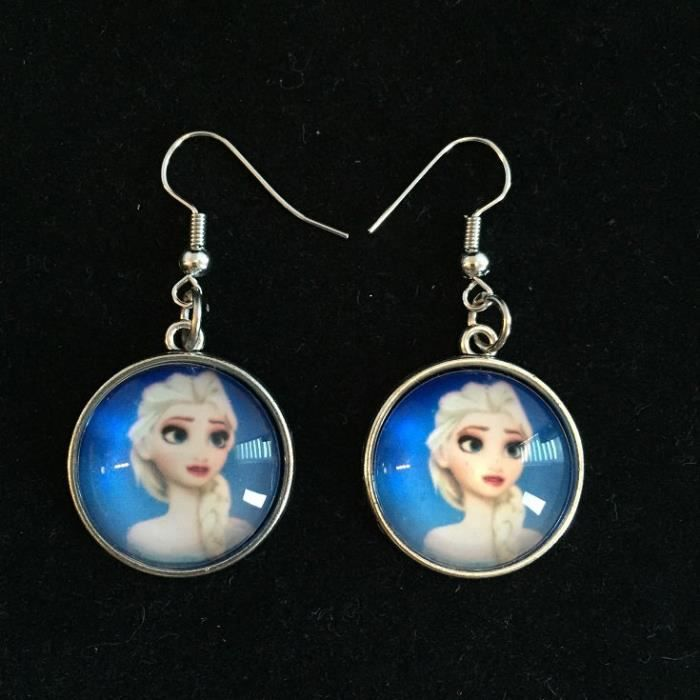 boucles d 39 oreilles earrings orecchini la reine des neiges. Black Bedroom Furniture Sets. Home Design Ideas