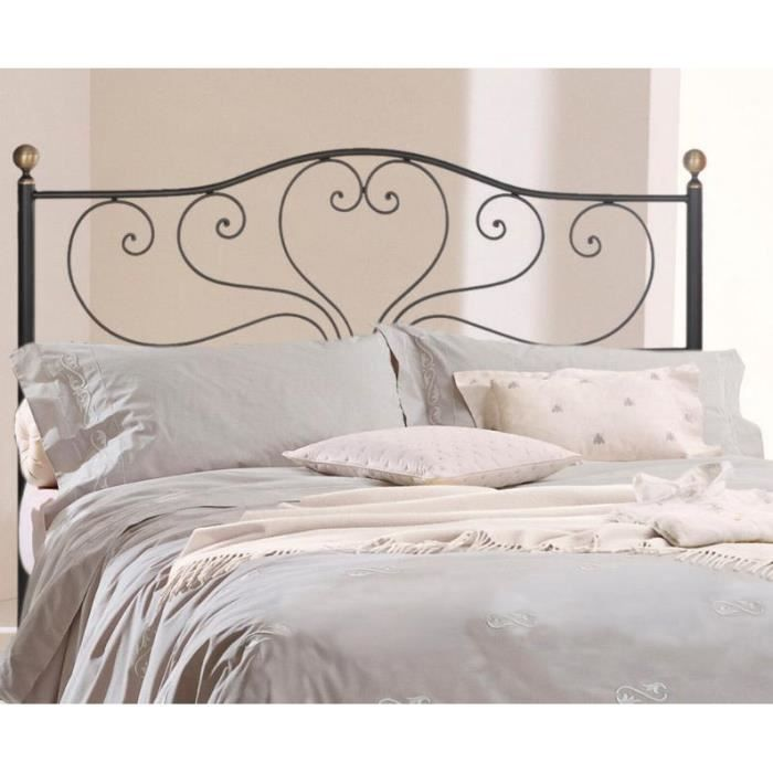 t te de lit en fer forg mod le sandra achat vente t te de lit cdiscount. Black Bedroom Furniture Sets. Home Design Ideas