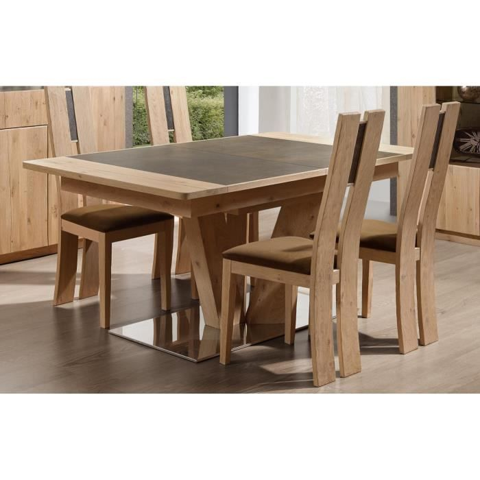 table pied central carr ou rectangulaire en ch achat vente table a manger seule table pied. Black Bedroom Furniture Sets. Home Design Ideas