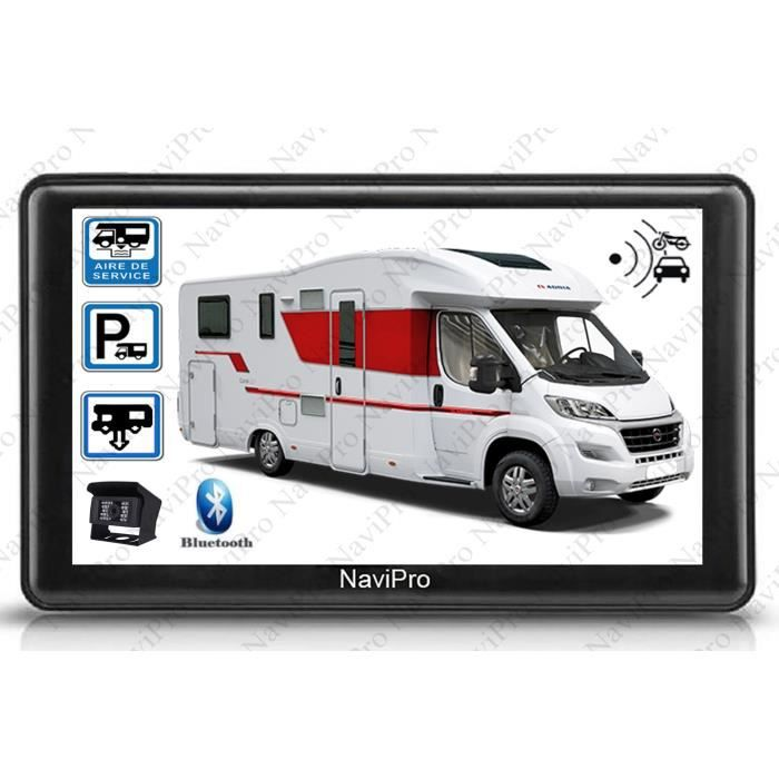 PACK GPS AUTO GPS CAMPING CAR EUROPE 7 POUCES CAMERA DE RECUL SA