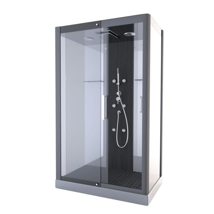 aurlane cabine de douche pure rectangle 115x90cm achat vente cabine de douche 50 black. Black Bedroom Furniture Sets. Home Design Ideas