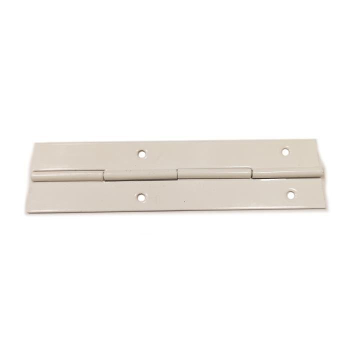CHARNIÈRE - PAUMELLE Charnière 120mm métal piano blanc